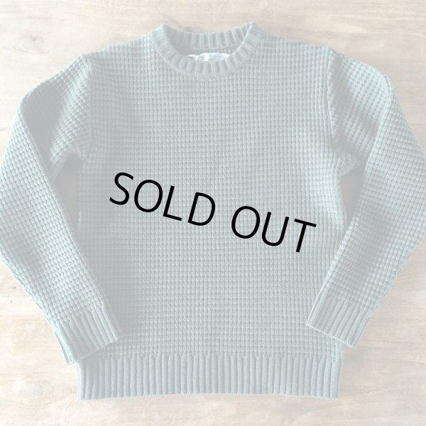 画像1: Island knit works(アイランドニットワークス) waffle knit shirt  militarygreenカラー (1)