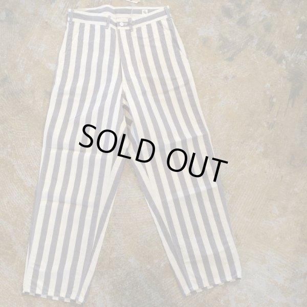 画像1:  Kaptain sunshine(キャプテンサンシャイン)    Gray Stripe Painter Pants     メンズ、レディース (1)