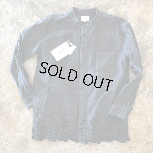 画像1:  Votole    Embroidery nocollar flannel Shirt     カラー...Charcoal (1)