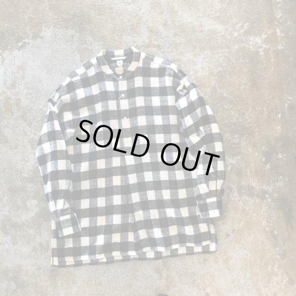 画像1:   KAPTAIN SUNSHINE         ゛Pullover Band Collar Shirt゛        Block check blackカラー    (1)